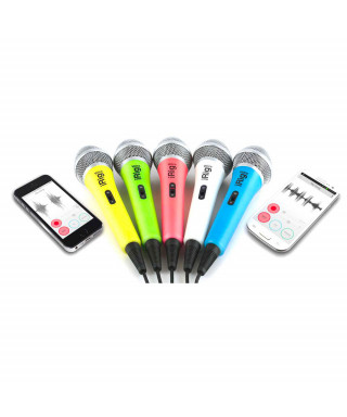 IK Multimedia iRig Voice - Microfono palmare per sistemi Android, iOS e MAC - bianco