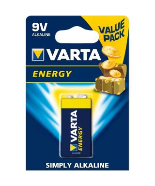 BATTERIA ALCALINA VARTA ENERGY 9V BLISTER 1 PZ