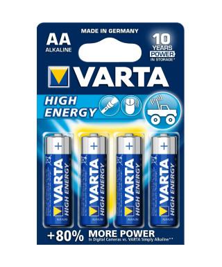 BATTERIA ALCALINA VARTA HIGH ENERGY AA STILO BLISTER 4 PZ