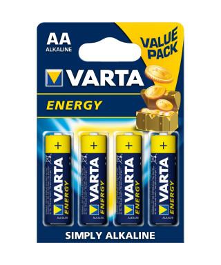 BATTERIA ALCALINA VARTA ENERGY AA STILO BLISTER 4 PZ