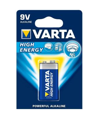 BATTERIA ALCALINA VARTA HIGH ENERGY 9V 0492