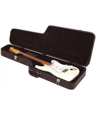 Rockgear RC 10603 B/SB Case Standard rettangolare per Classic Strat style, Black Tolex