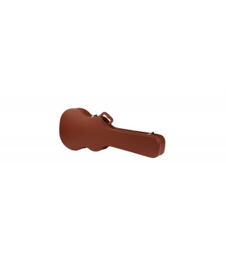 Rockgear RC 10604 BRCT/SB Case Standard sagomato per Chitarra elettrica LP Style, Top Curved, Brown Tolex