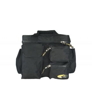 Rockgear RB 27160 B Borsa DJ in Nylon per 100 vinili, Black