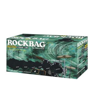 Rockgear RB 22901 B Custodie Student per batteria, Standard Set, 7 pezzi