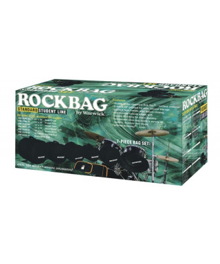 Rockgear RB 22902 B Custodie Student per batteria, Fusion II Set, 7 pezzi
