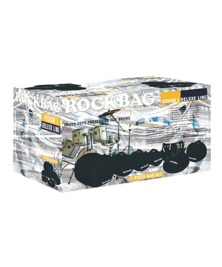 Rockgear RB 22910 B Custodie Deluxe per batteria, Fusion I Set, 7 pezzi