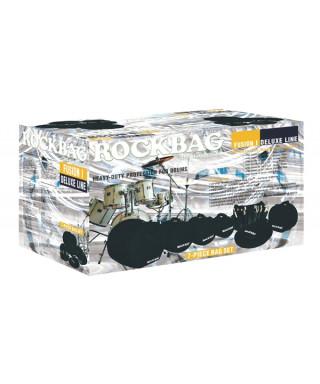 Rockgear RB 22911 B Custodie Deluxe per batteria, Standard Set, 7 pezzi