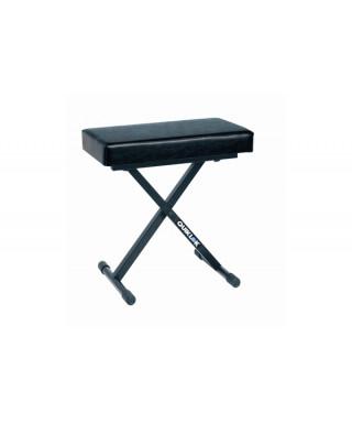 Quik Lok BX718 Panca per tastiera serie Deluxe con seduta larga