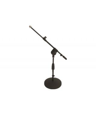 Quik Lok A495 BK EU Asta microfonica bassa con base tonda in ghisa