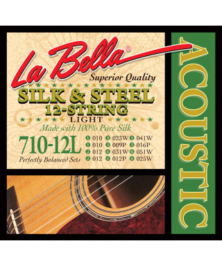 LaBella 710-12L Muta di corde per chitarra acustica 12 corde