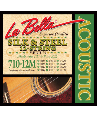 LaBella 710-12M Muta di corde per chitarra acustica 12 corde