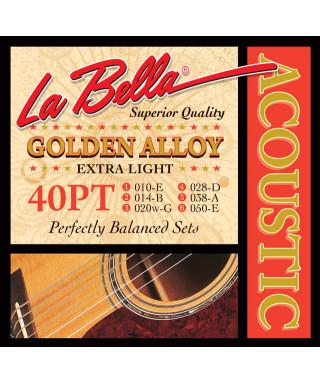 LaBella 40PT Muta di corde per chitarra acustica