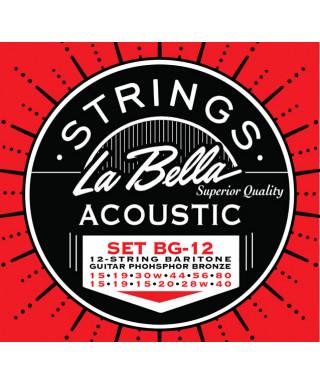 LaBella BG-12 Muta di corde per chitarra acustica 12 corde baritona
