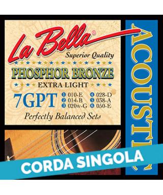 LaBella 75GPT 5th - 7GPT .038 Corda singola per chitarra acustica