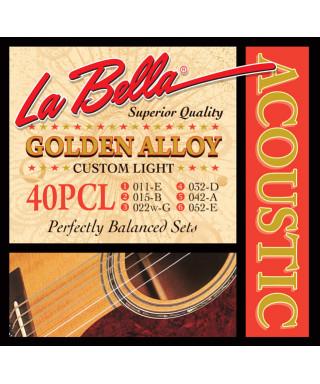 LaBella 40PCL Muta di corde per chitarra acustica