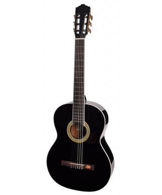 Salvador Cortez CC-10L-BK Chitarra classica 4/4 nera mancina